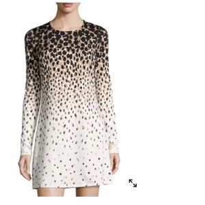 Julie Brown Cheetah-Print Dress Black Monet Med
